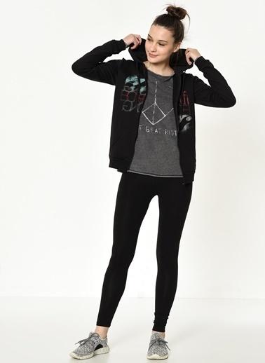 Billabong Fermuarlı Sweatshirt Siyah